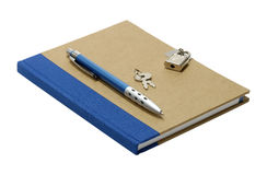Locked Journal. Isolated Journal With a Lock and Key Stock Images