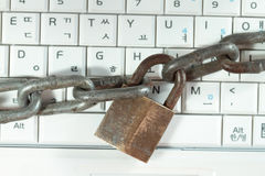 Locked Keyboard Stock Photos