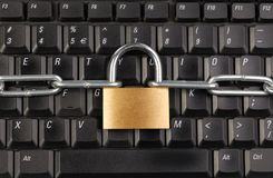 Locked Keyboard Stock Photography