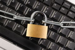 Locked Keyboard Royalty Free Stock Photography