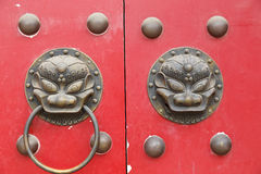 Locked lion door Stock Photography