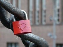 Locked Love in Berlin. Padlock on a Berlin bridge Royalty Free Stock Photo