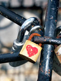 Locked love locks Stock Photography