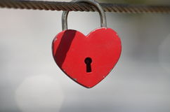 Locked love Stock Image