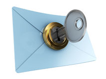 Locked mail Royalty Free Stock Images