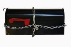 Locked Mail Box Stock Photo