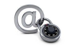 Locked mail Stock Photo