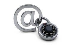 Locked mail Stock Photo