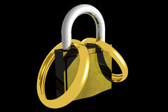 Locked marriage (3D). Photo of Locked marriage (3D stock illustration