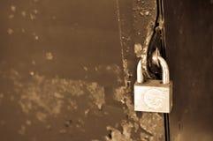 Locked master key Stock Image