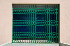 A locked metal gate stock photos