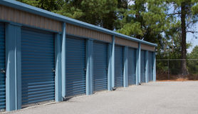 Locked Mini Self Storage Units Royalty Free Stock Photos