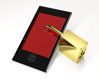 Locked mobile phone Royalty Free Stock Image