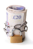 Locked Money Royalty Free Stock Images