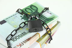 Locked money Stock Image