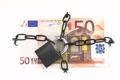 Locked money Stock Image