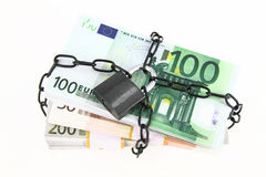 Locked money Royalty Free Stock Image