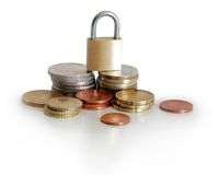 Locked money Royalty Free Stock Photos