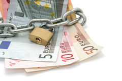 Locked money Stock Photos