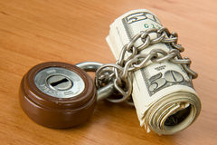 Locked money Royalty Free Stock Images