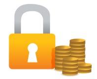 Locked money illustration concept design Stock Image