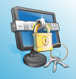 Locked Monitor Royalty Free Stock Photos