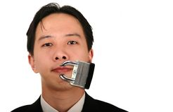 Locked Mouth Royalty Free Stock Photography