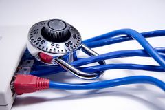 Locked Network Stock Photo