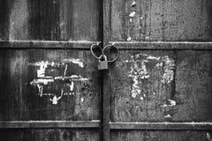 Free LOCKED OLD BLACK GATE Royalty Free Stock Photos - 112100588