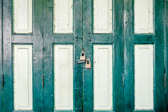 Locked old door in Thailand Royalty Free Stock Images
