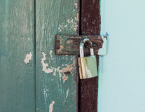 Locked old door Royalty Free Stock Image