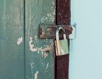Locked old door Royalty Free Stock Image