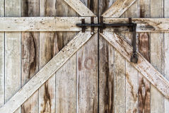 Locked old door Stock Images