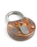 Locked old padlock Royalty Free Stock Images