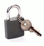 Locked padlock Royalty Free Stock Photos