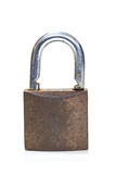 Locked padlock over white background Royalty Free Stock Image