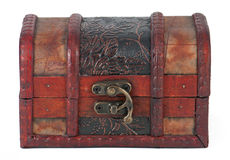 Locked patterned box for jewellery Stock Photo
