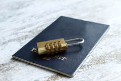 Locked personal data Stock Image