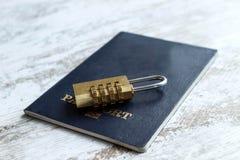 Locked personal data Stock Image