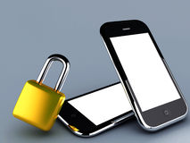 Locked phone Stock Photos
