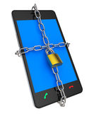 Locked Phone Indicates Protect Password And Login Royalty Free Stock Photos