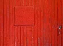 Locked Red Barn Door Stock Image