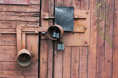 Locked red shed Stock Photography