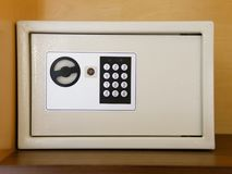 Locked Safe digital access technology. Locked Safe with digital access technology Stock Photos