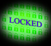 Locked Security Represents Secure Unauthorized And Locking Stock Images