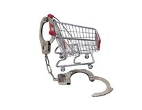 Locked into shopping Stock Image