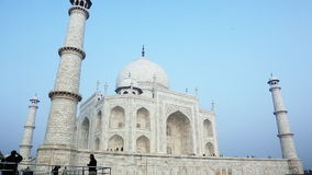 Locked-on shot of the Taj Mahal, Agra, Uttar Pradesh, India stock video