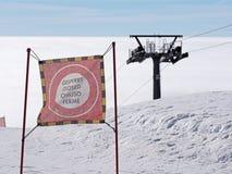 Locked ski slope Royalty Free Stock Photo