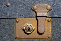 Locked suitcase. Severn valley railway, bewdley station, uk stock photos
