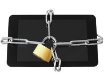 Locked tablet Royalty Free Stock Images